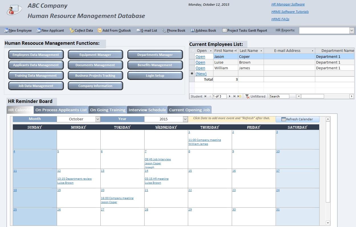 Human Resource Management Software Demo | HRMS Software | HR Data